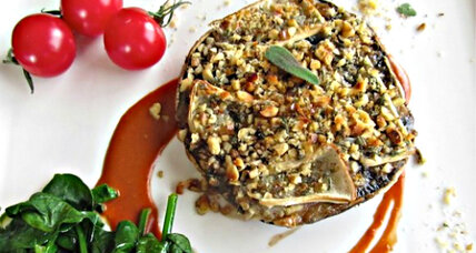 Meatless Monday: Brie and walnut topped portobello mushrooms