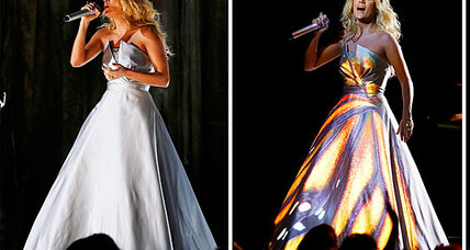 Carrie Underwood dress: Digital metamorphosis steals 2013 Grammys (+video)