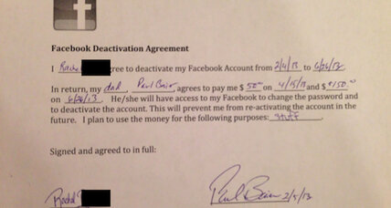 $200 to quit Facebook: One dad's deal with his daughter