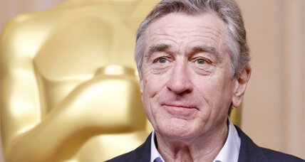 Robert De Niro puts his prints in cement at Hollywood's Chinese Theatre