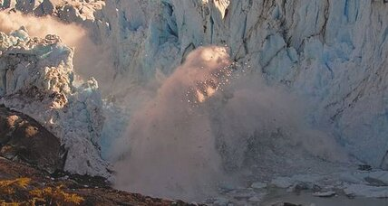 Epic glacier collapse caught on camera