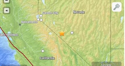 Nevada earthquake followed by three aftershocks