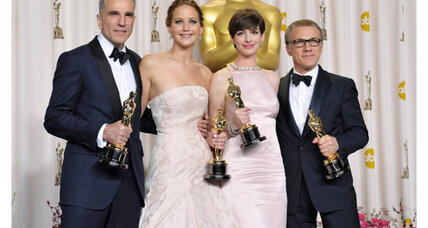 Anne Hathaway, Jennifer Lawrence, and Christoph Waltz: Behind the scenes at the Oscars