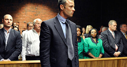 Oscar Pistorius, suspecting an intruder, shot girlfriend through bathroom door