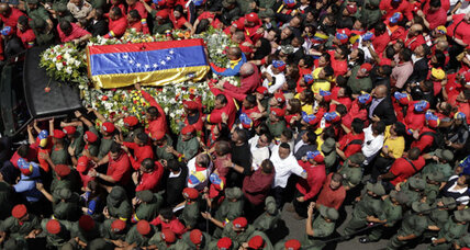 Hugo Chavez brought 'home' to military academy where career began