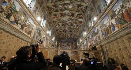 Sistine Chapel chimney installed, Vatican prepares for new pope