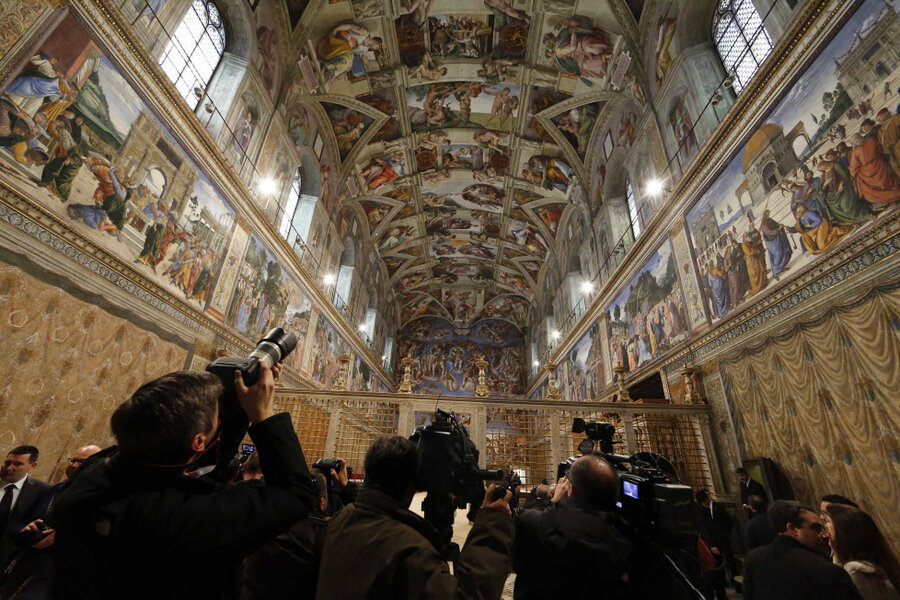 Sistine Chapel Chimney Installed Vatican Prepares For New Pope