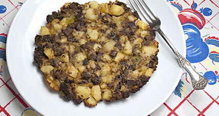 Beef pot roast and potato hash