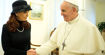Making nice? Argentina's Kirchner and Pope Francis meet in Rome