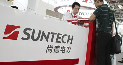 Suntech Power defaults. Solar troubles reach China.