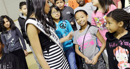 What is a bully? Pageant winner shares her personal story on school tour