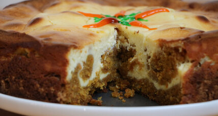 Cheesecake-swirled carrot cake
