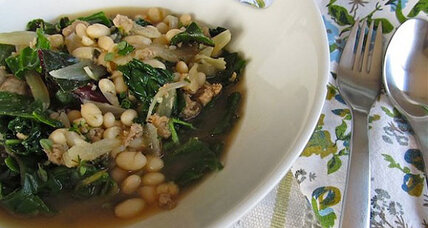 Italian white bean sausage and kale stew
