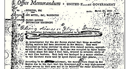 FBI UFO memo is bureau's most viewed public record
