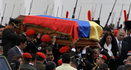 Chavez' body makes final journey as government says he will not be embalmed (+video)