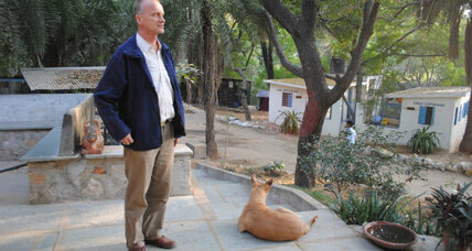 Jack Reece helps a Noah's Ark of animals in India