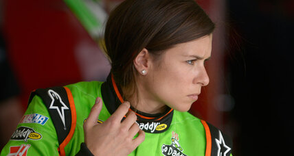 Danica Patrick hit by rock, says she's OK