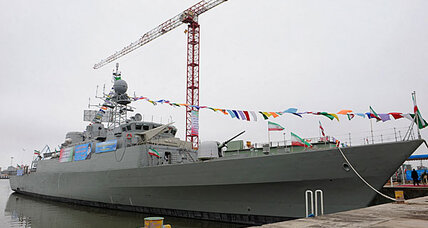 Iran launches destroyer, a made-in-Iran guided-missile ship