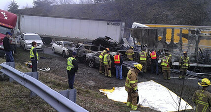 I-77 pileup was series of chain reactions, highway reopens today