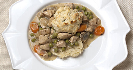 Deconstructed chicken pot pie