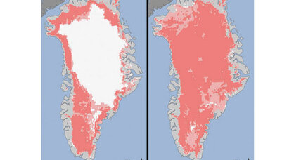 Clouds blamed for record ice melt in Greenland