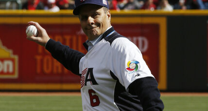 Who handled Major League Baseball's ceremonial first-pitch honors in 2013?