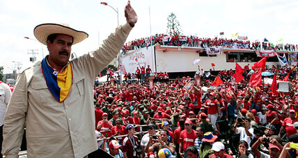 Venezuela's interim President Maduro addresses a topic Chávez largely avoided – crime