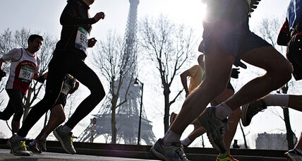 Paris Marathon captures energy of runners' footsteps