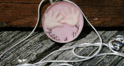 Baby mementos: Would you want this hanging from your neck?