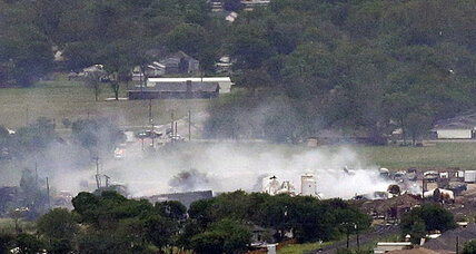 Boston bombing. Ricin in D.C. Texas inferno. Any links?