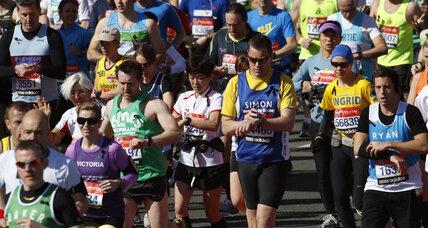 London marathon message: 'Runners are stronger than bombers'