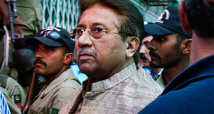 Pakistan's Musharraf slips treason charges, but is held incommunicado