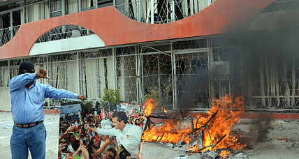 Teachers in Mexico break windows, torch offices to protest anti-union reforms