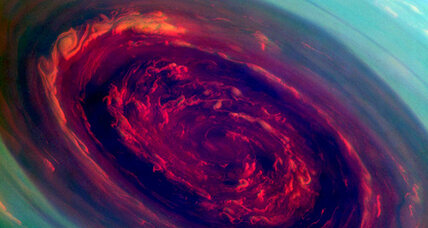 What's a monster hurricane doing on top of Saturn?