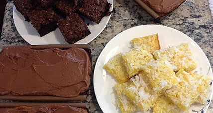 Baking for Boston: Peanut butter pound cake and lemon coconut bars