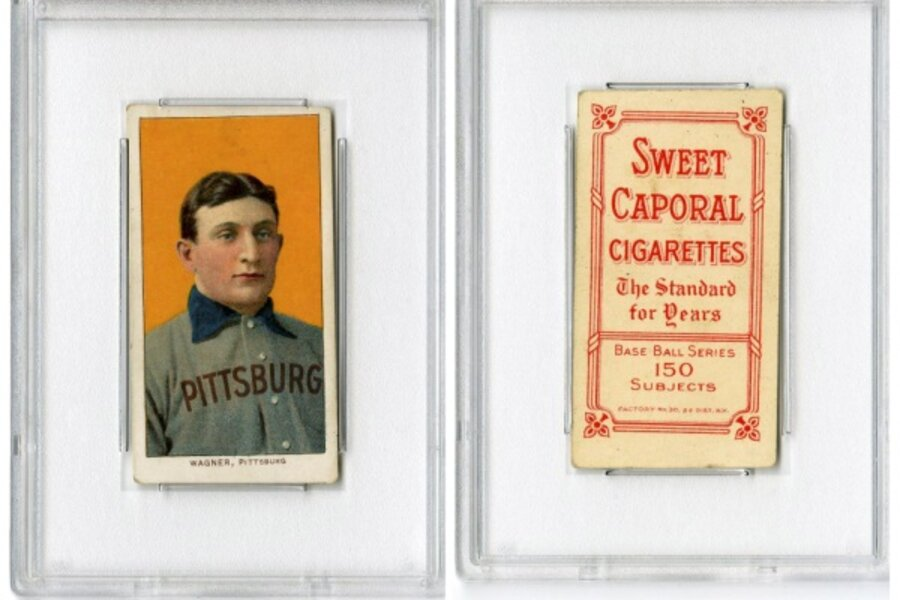 Honus Wagner Baseball Card Fetches 21 Million Csmonitorcom