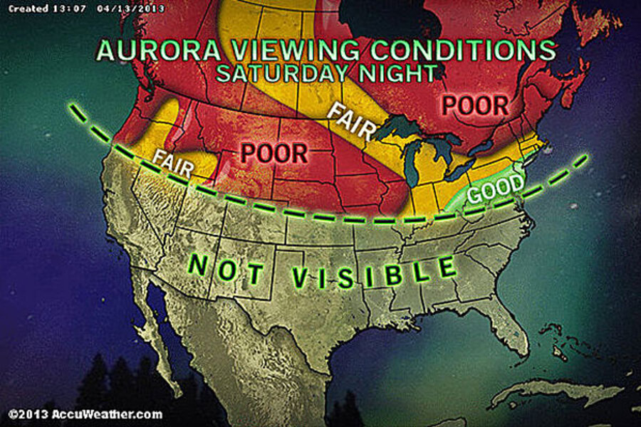 Aurora Borealis Tonight Dazzling Northern Lights Forecast - Us lights map