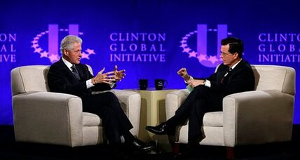 How did Stephen Colbert lure Bill Clinton to Twitter?