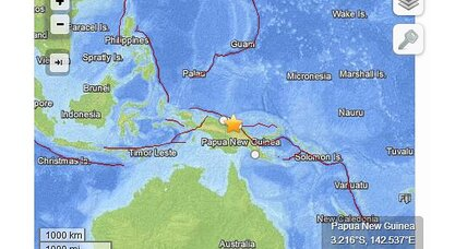6.8 earthquake: Strong, shallow quake shakes Papua New Guinea