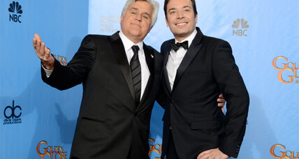 Leno, Fallon mock 'Tonight' rumors in parody video