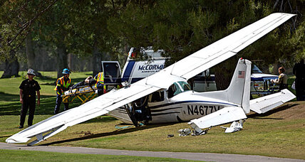 Plane crashes near L.A. after mid-air collision