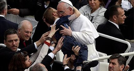 Parents moved to tears after Pope's careful embrace