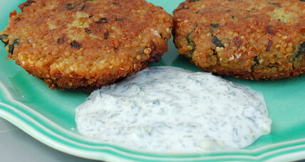 Meatless Monday: Curried quinoa cakes with spinach