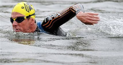 Is Lance Armstrong's swimming career sunk, too?