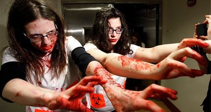'Zombie apocalypse' strikes university campus