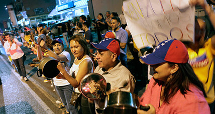 Venezuelan tools of protest? Pots, pans, and smartphone apps.
