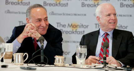 Immigration reformers McCain, Schumer agree on need to halt 'future wave'