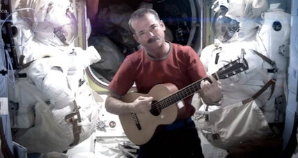 'Space Oddity'? First rock video sung and shot in space wows David Bowie.