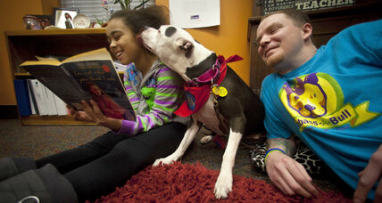 The dog is my homework: Attentive pups listen, help students read