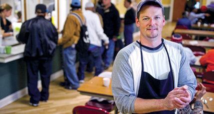 Scott Budnick serves breakfast – with a side order of respect – to the homeless